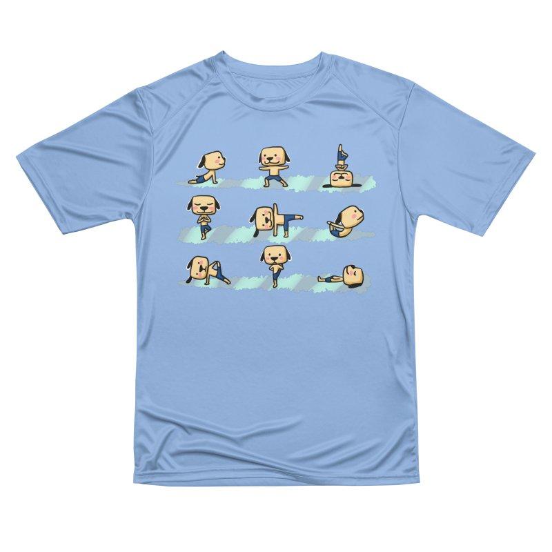 Dog yoga Men's T-Shirt by Evacomics Online Shop