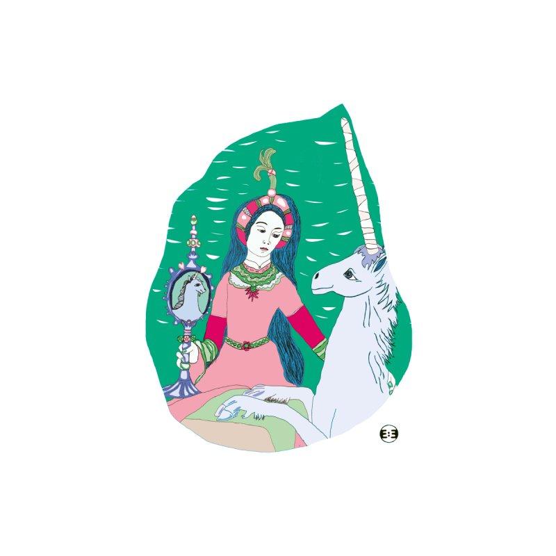 Dame plus Licorne by evamirror's Artist Shop