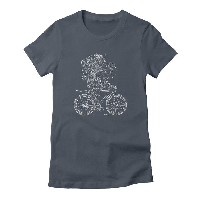 Fixie (Dark Background) Women's T-Shirt by EvanArt Shop