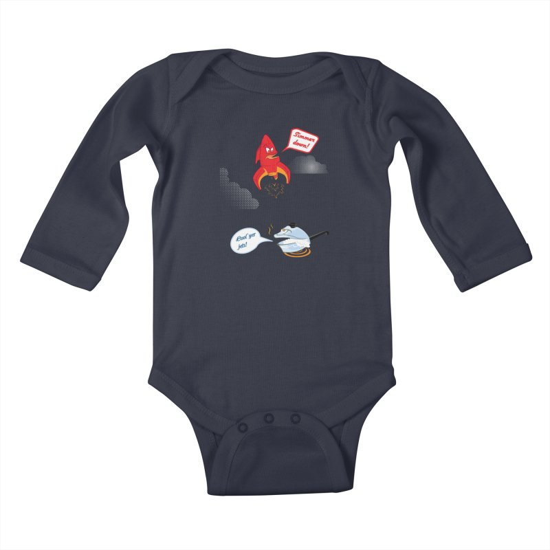 What A Punny Day Kids Baby Longsleeve Bodysuit by Evan Ayres