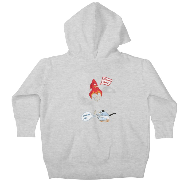 What A Punny Day Kids Baby Zip-Up Hoody by Evan Ayres
