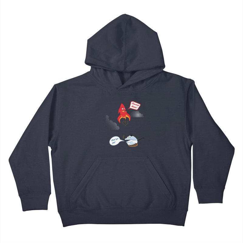 What A Punny Day Kids Pullover Hoody by Evan Ayres