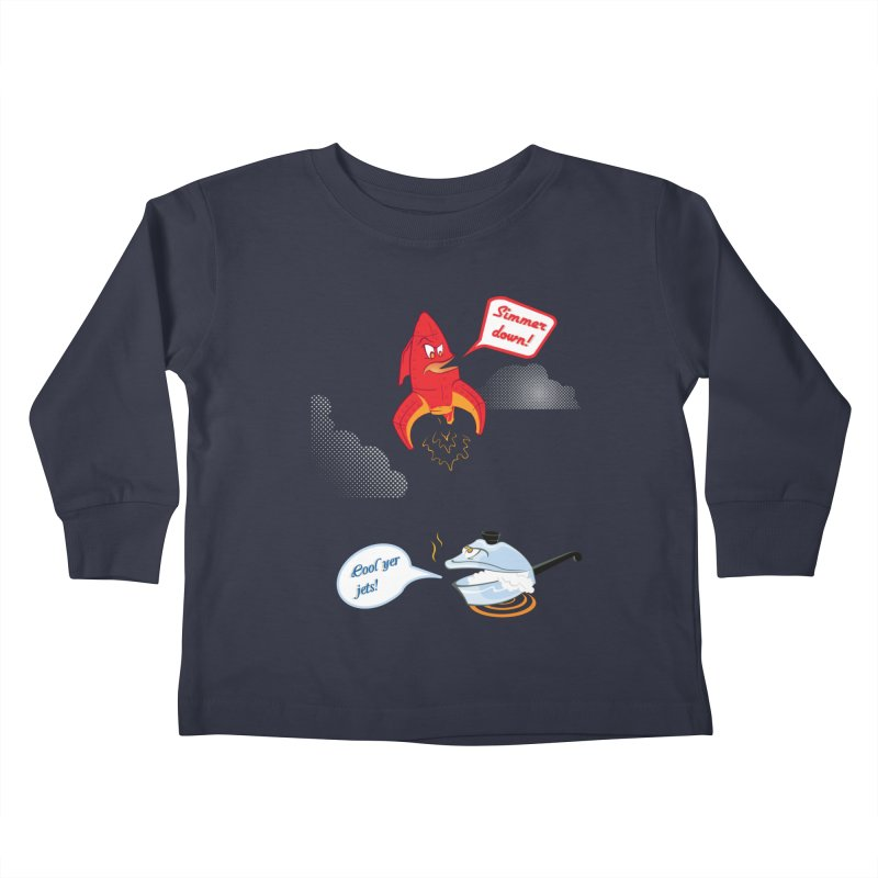 What A Punny Day Kids Toddler Longsleeve T-Shirt by Evan Ayres