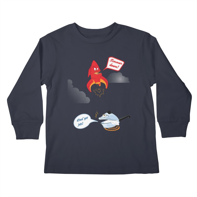What A Punny Day Kids Longsleeve T-Shirt by Evan Ayres Design