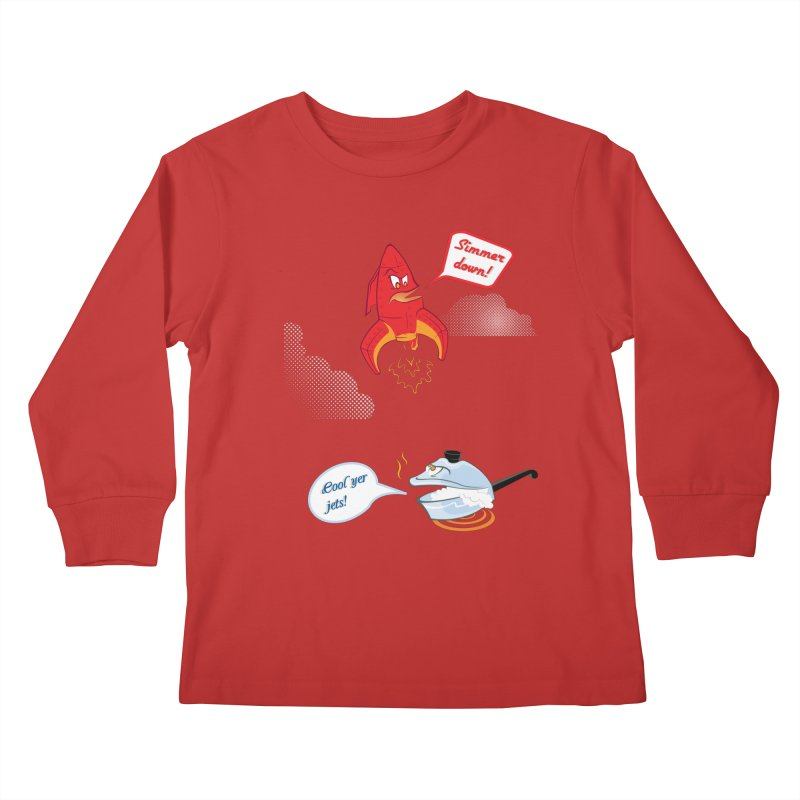 What A Punny Day Kids Longsleeve T-Shirt by Evan Ayres