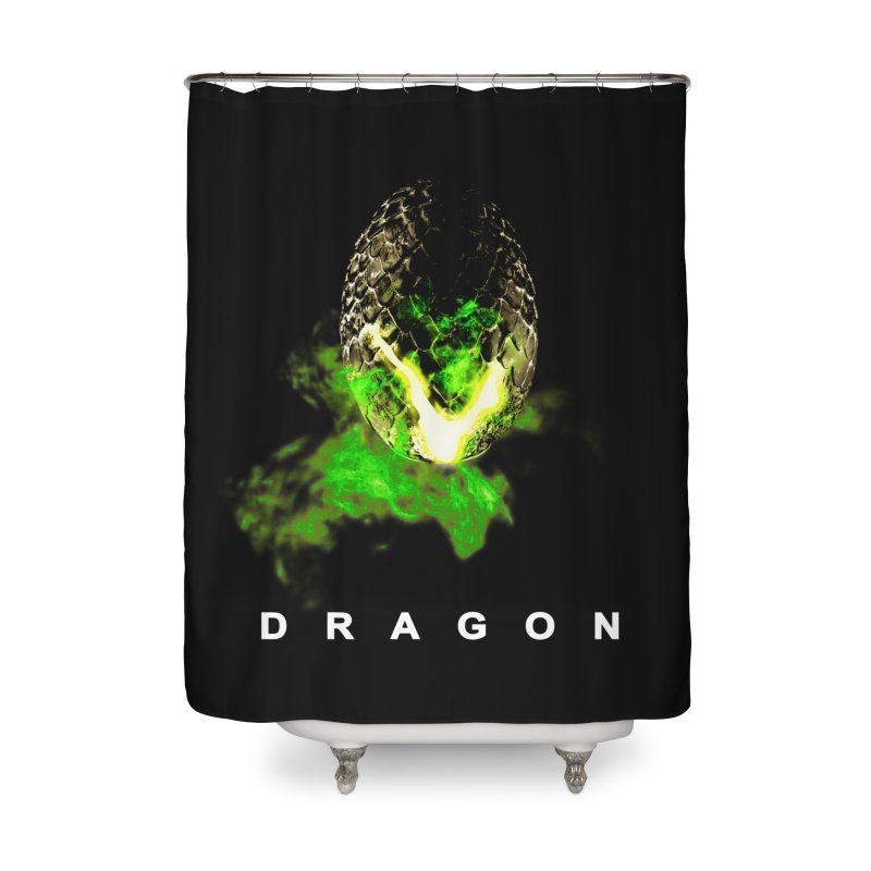 D R A G O N Home Shower Curtain by Evan Ayres