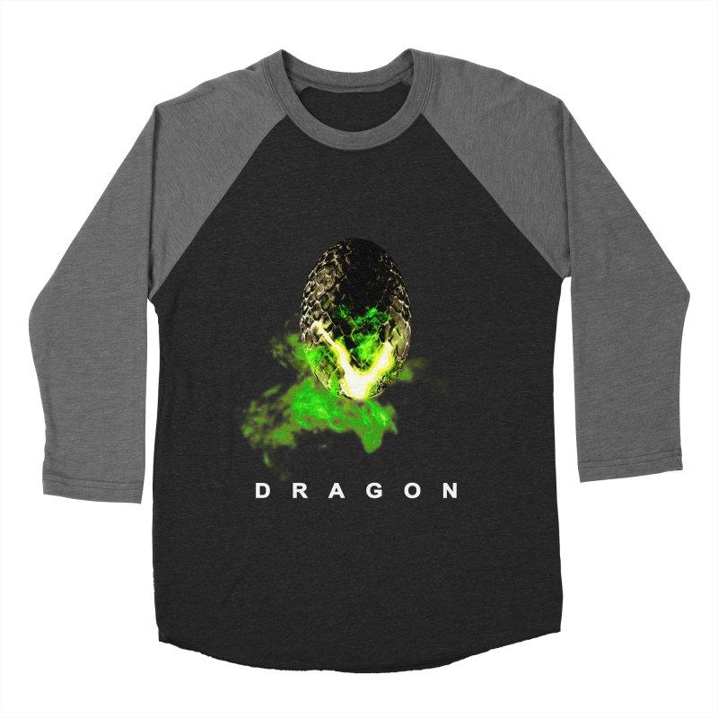 D R A G O N Women's Baseball Triblend T-Shirt by Evan Ayres