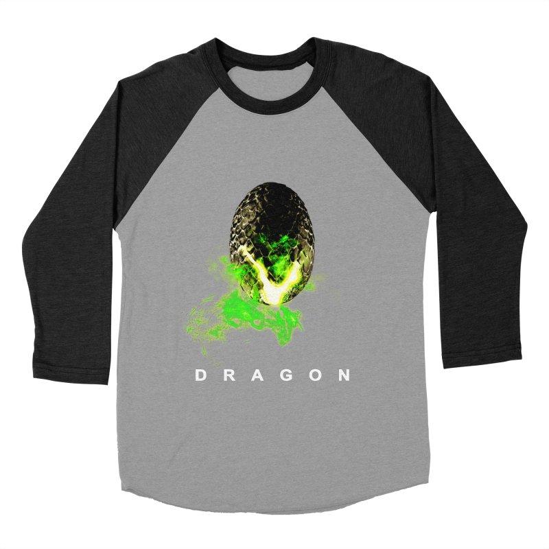 D R A G O N Men's Baseball Triblend T-Shirt by Evan Ayres