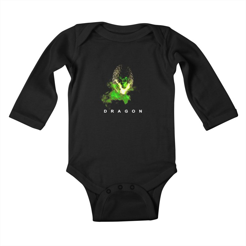 D R A G O N Kids Baby Longsleeve Bodysuit by Evan Ayres