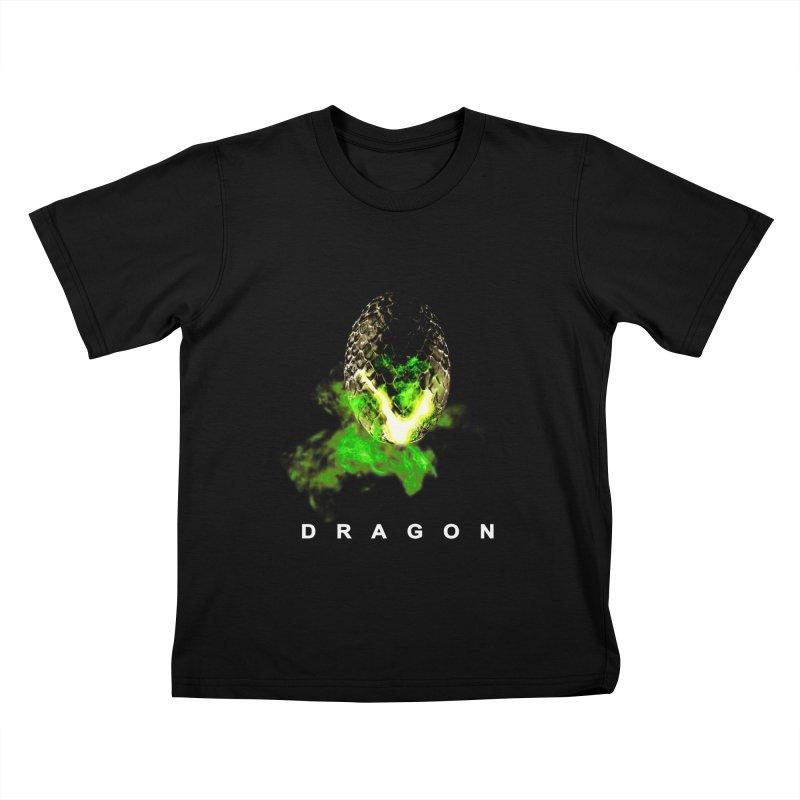 D R A G O N Kids T-shirt by Evan Ayres