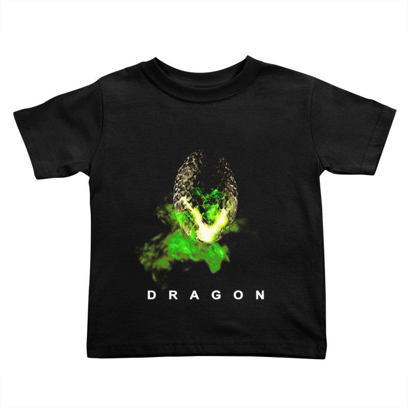 D R A G O N Kids Toddler T-Shirt by Evan Ayres