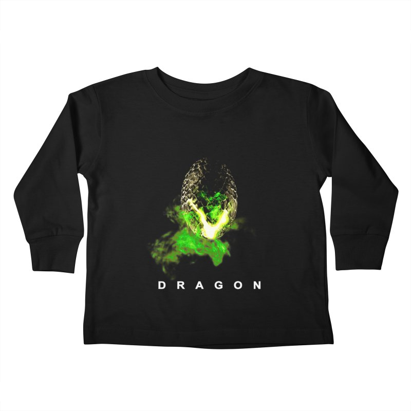 D R A G O N Kids Toddler Longsleeve T-Shirt by Evan Ayres