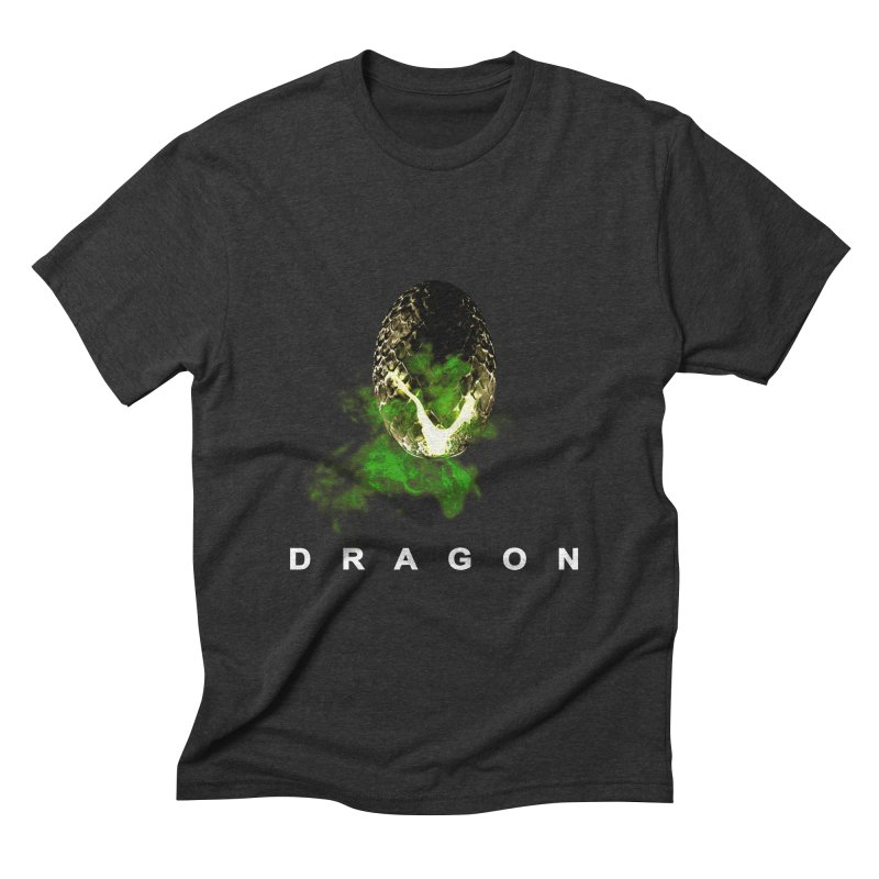 D R A G O N Men's Triblend T-shirt by Evan Ayres