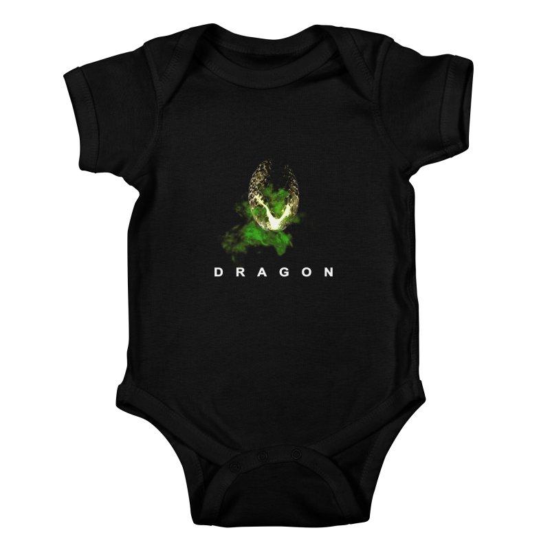 D R A G O N Kids Baby Bodysuit by Evan Ayres