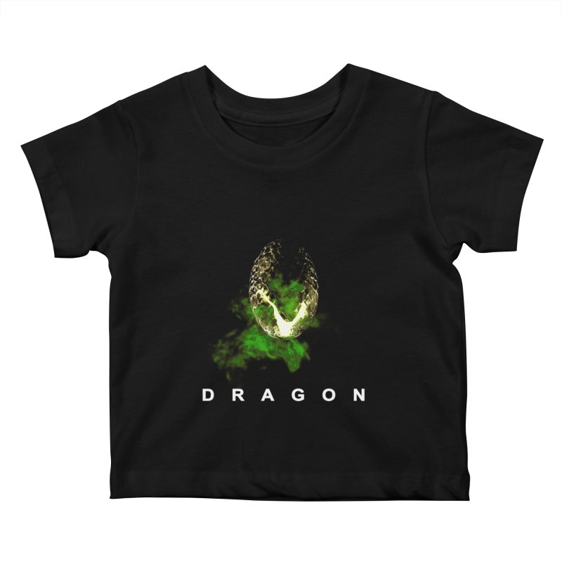 D R A G O N Kids Baby T-Shirt by Evan Ayres