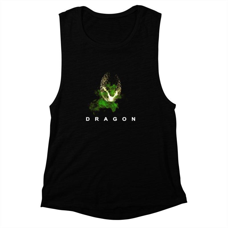 D R A G O N Women's Muscle Tank by Evan Ayres