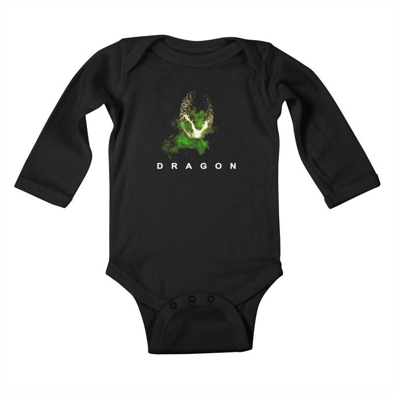 D R A G O N Kids Baby Longsleeve Bodysuit by Evan Ayres Design