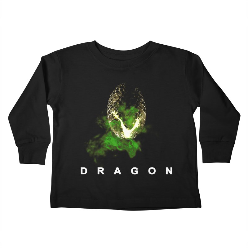 D R A G O N Kids Toddler Longsleeve T-Shirt by Evan Ayres Design
