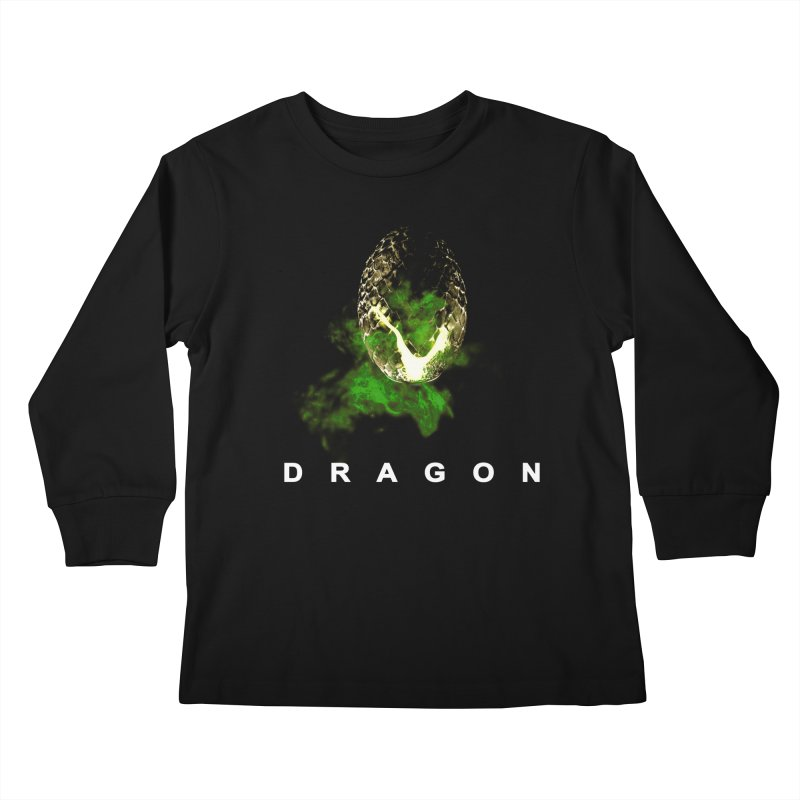 D R A G O N Kids Longsleeve T-Shirt by Evan Ayres Design