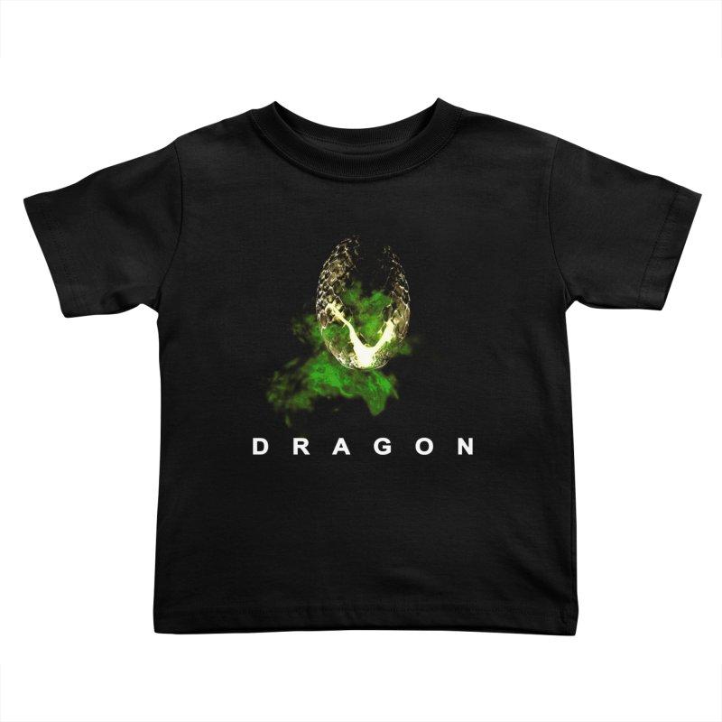 D R A G O N Kids Toddler T-Shirt by Evan Ayres Design