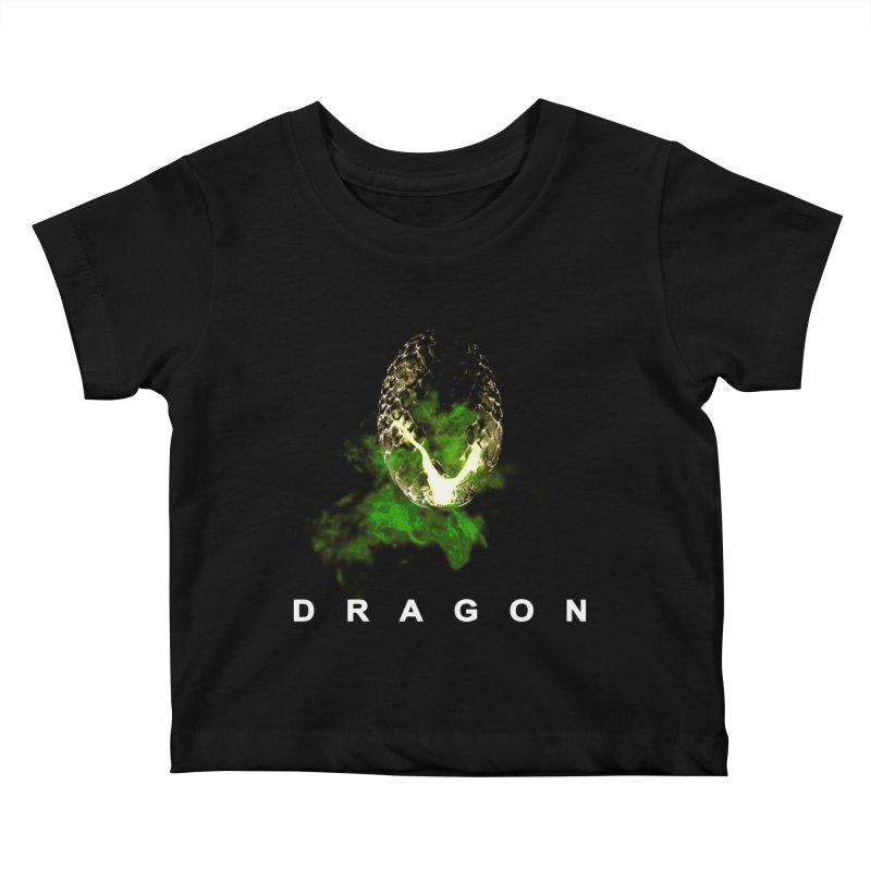 D R A G O N Kids Baby T-Shirt by Evan Ayres Design