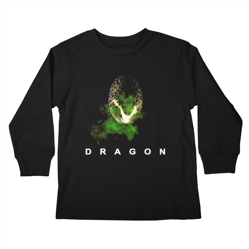D R A G O N Kids Longsleeve T-Shirt by Evan Ayres Design