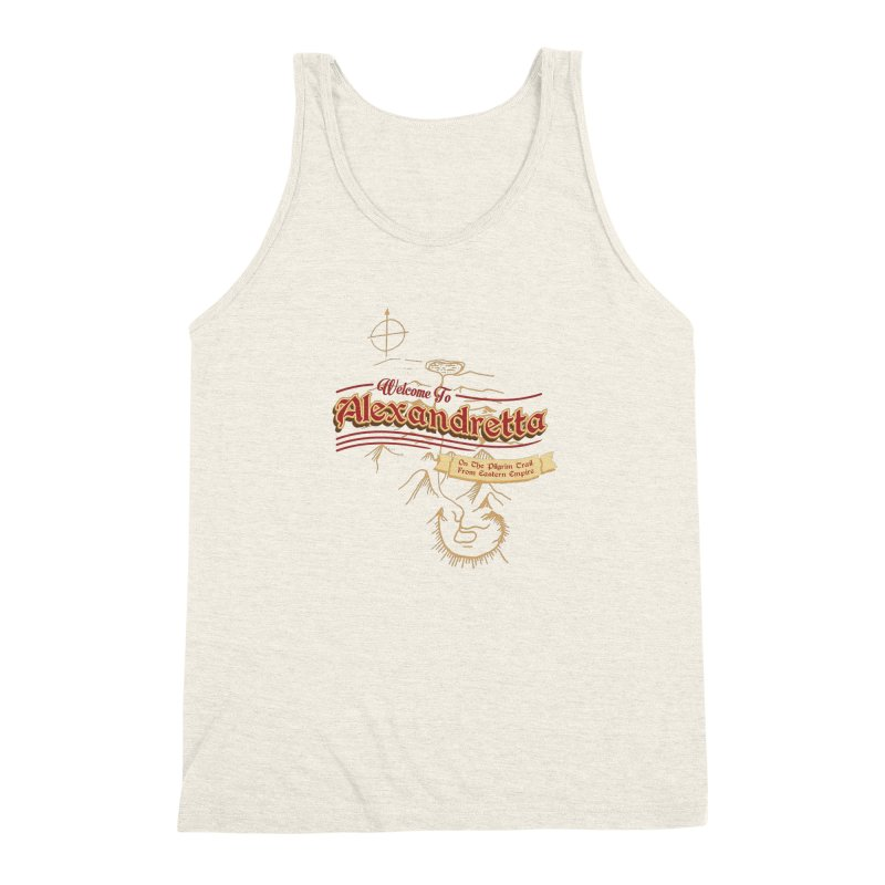 On The Pilgrim Trail From Eastern Empire Men's Triblend Tank by Evan Ayres