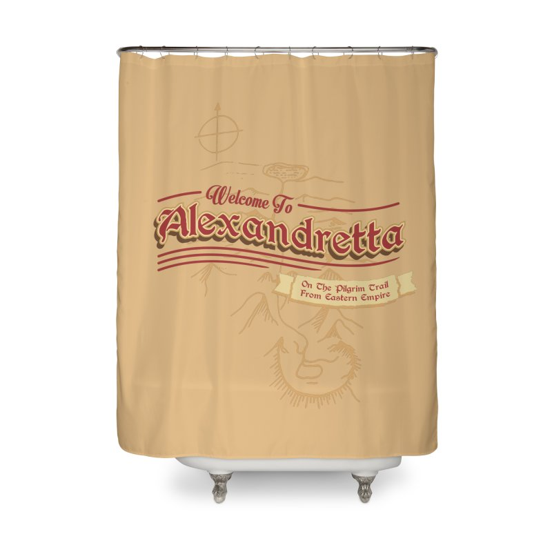 On The Pilgrim Trail From Eastern Empire Home Shower Curtain by Evan Ayres