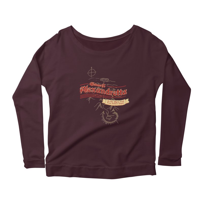 On The Pilgrim Trail From Eastern Empire Women's Longsleeve Scoopneck  by Evan Ayres