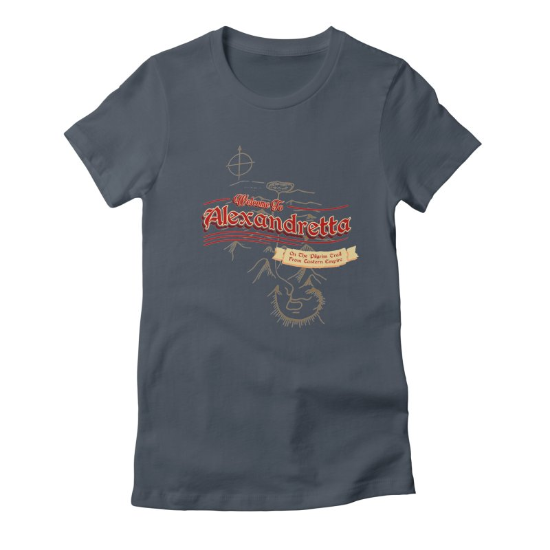 On The Pilgrim Trail From Eastern Empire Women's Fitted T-Shirt by Evan Ayres