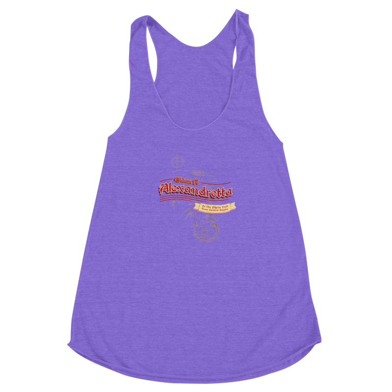 On The Pilgrim Trail From Eastern Empire Women's Racerback Triblend Tank by Evan Ayres