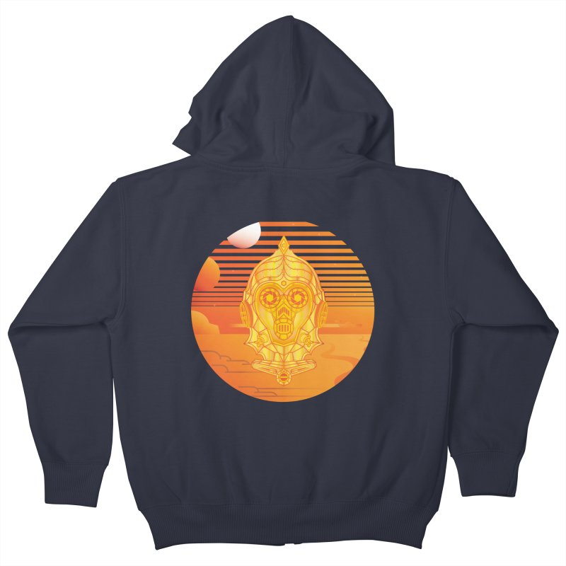 In A Galaxy Even Further Away... Kids Zip-Up Hoody by Evan Ayres