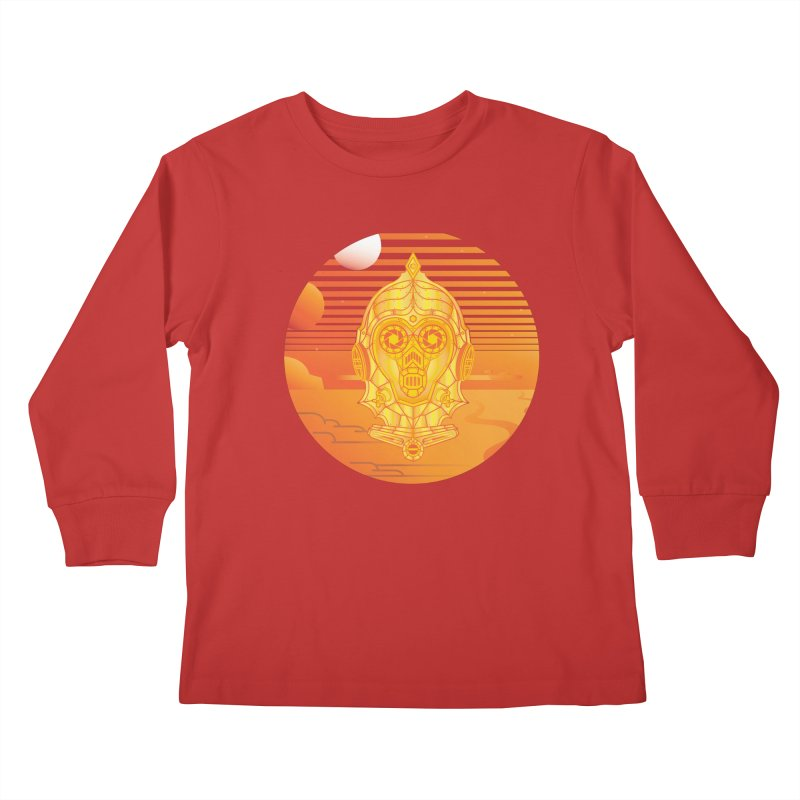 In A Galaxy Even Further Away... Kids Longsleeve T-Shirt by Evan Ayres