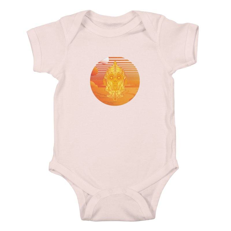 In A Galaxy Even Further Away... Kids Baby Bodysuit by Evan Ayres