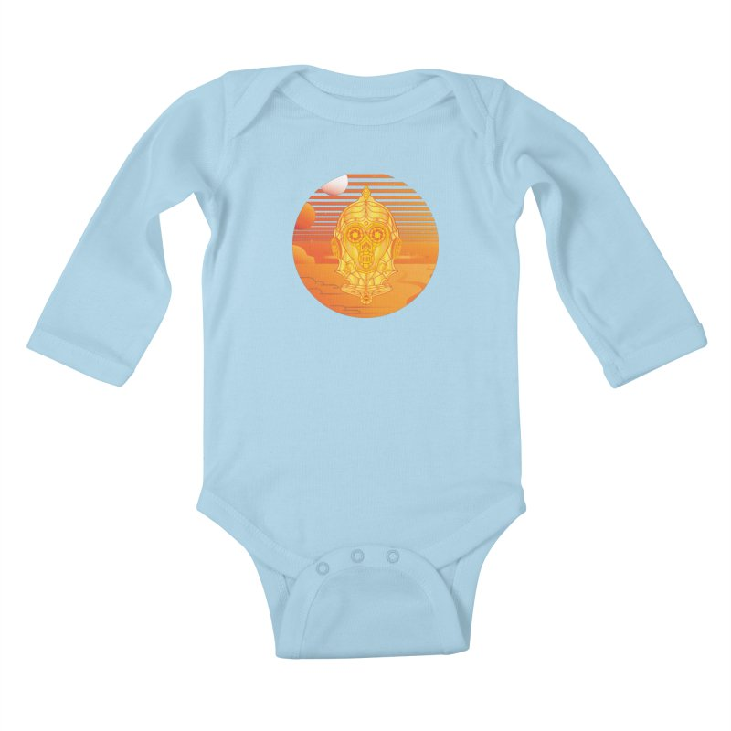 In A Galaxy Even Further Away... Kids Baby Longsleeve Bodysuit by Evan Ayres
