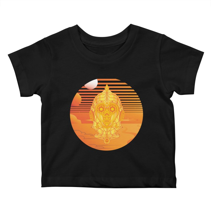 In A Galaxy Even Further Away... Kids Baby T-Shirt by Evan Ayres Design