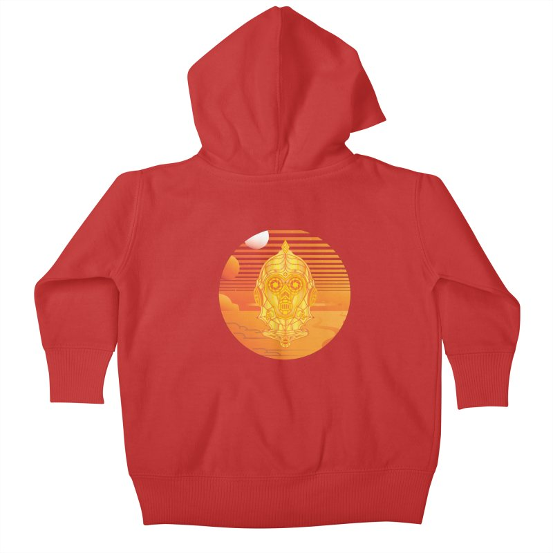 In A Galaxy Even Further Away... Kids Baby Zip-Up Hoody by Evan Ayres