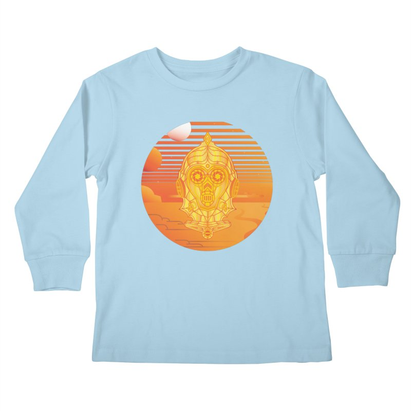 In A Galaxy Even Further Away... Kids Longsleeve T-Shirt by Evan Ayres Design
