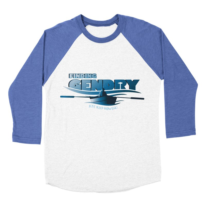 Just Keep Rowing Men's Baseball Triblend T-Shirt by Evan Ayres