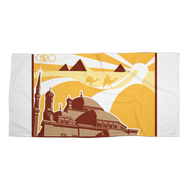 Travel To Cairo Accessories Beach Towel by Evan Ayres