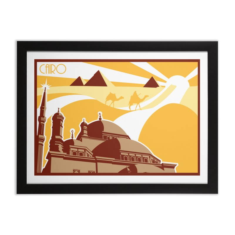 Travel To Cairo Home Framed Fine Art Print by Evan Ayres