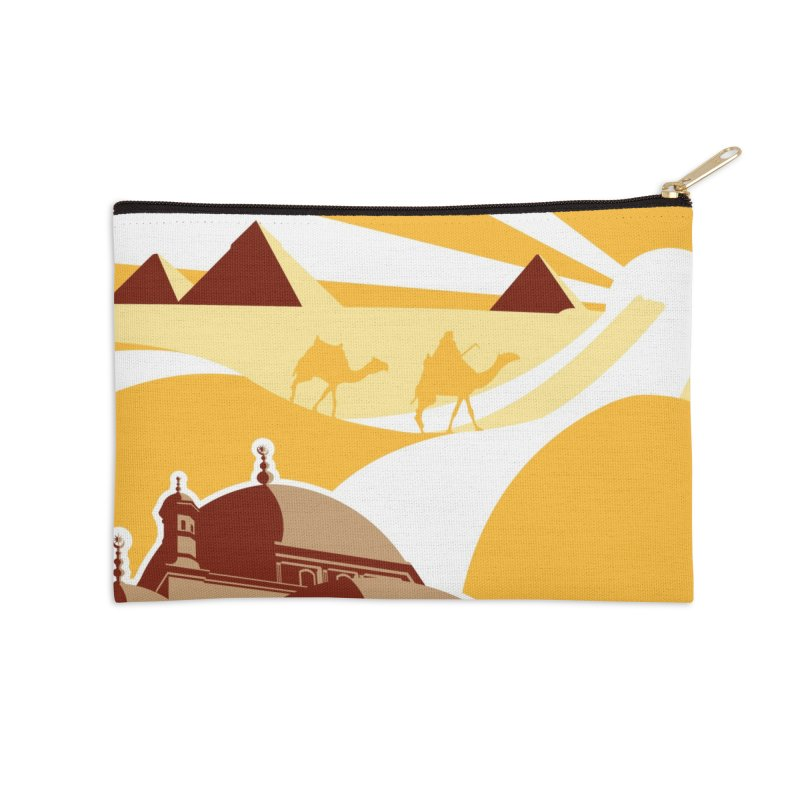 Travel To Cairo Accessories Zip Pouch by Evan Ayres