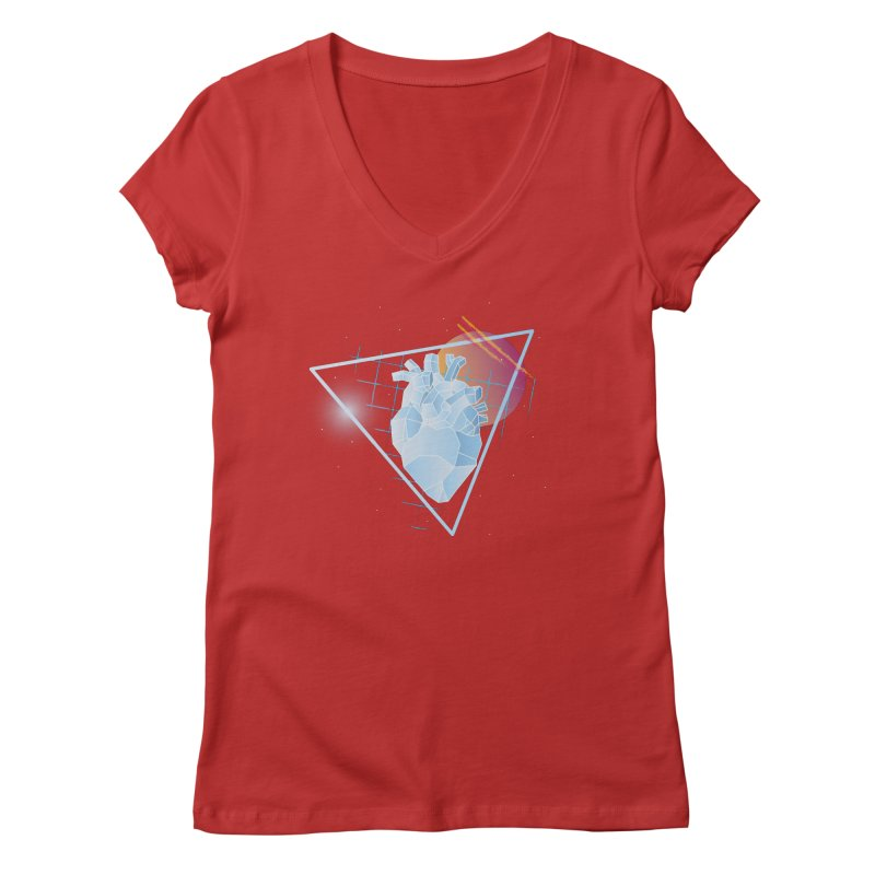 Heart Of Glass Women's V-Neck by Evan Ayres