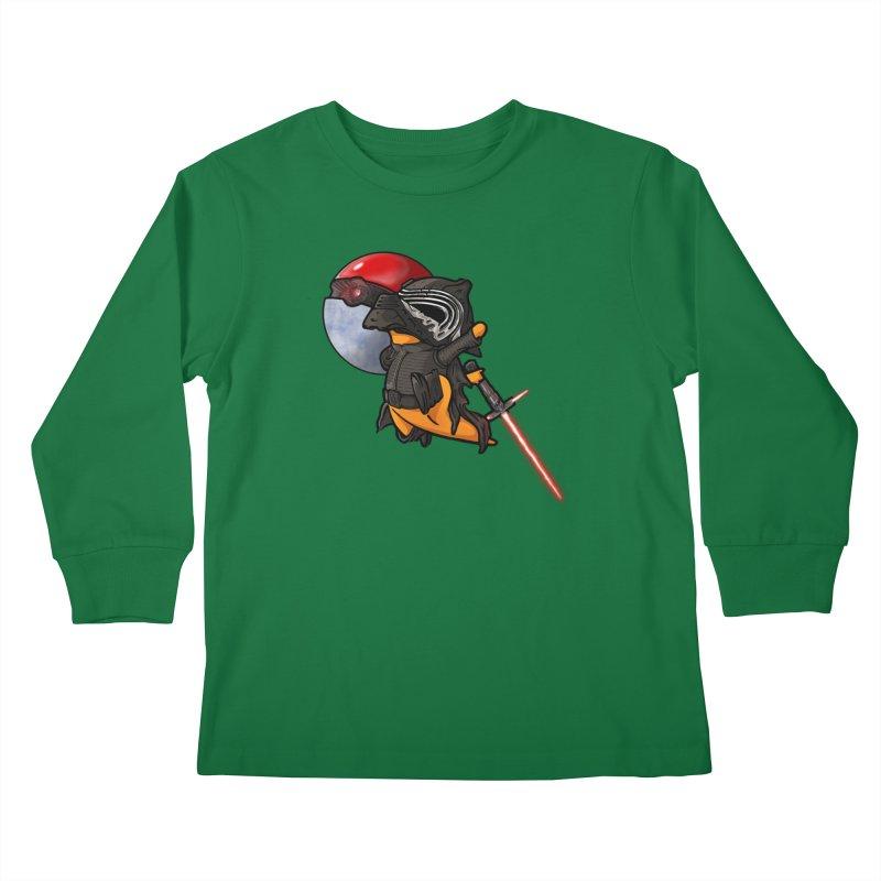 Cubo Ren Kids Longsleeve T-Shirt by Evan Ayres Design