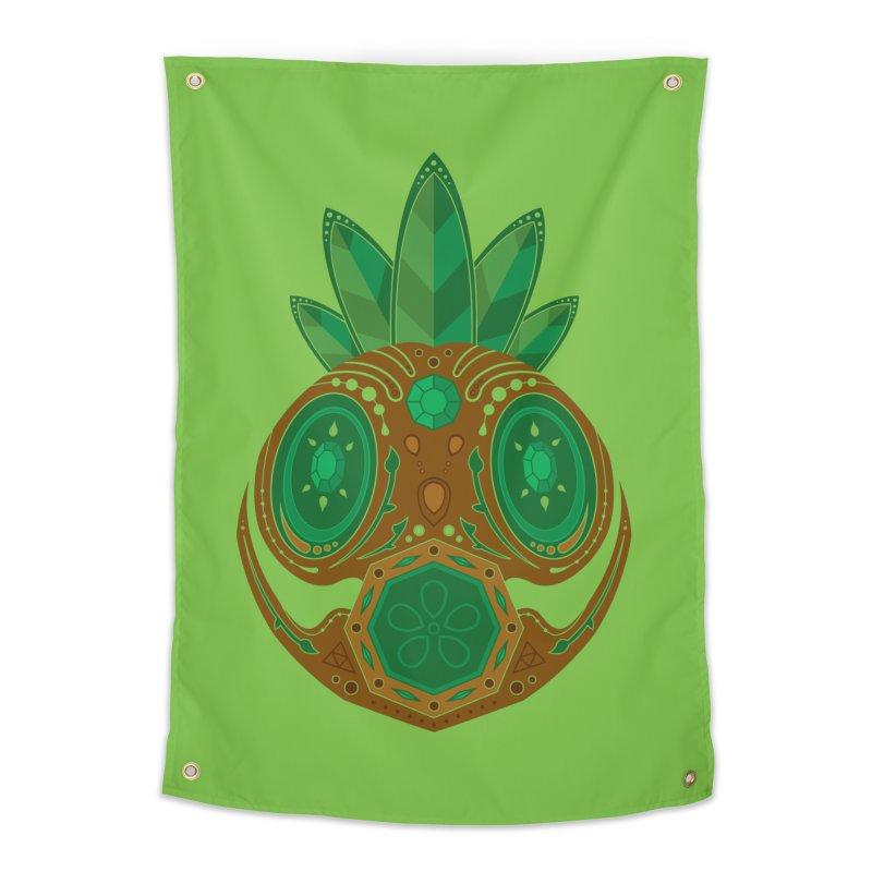 Deku Sugar Skull Home Tapestry by Evan Ayres
