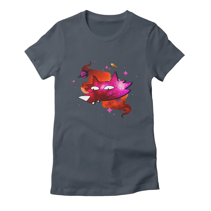 Space Coyote?... Women's Fitted T-Shirt by Evan Ayres