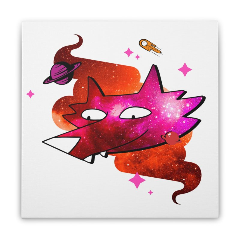 Space Coyote?... Home Stretched Canvas by Evan Ayres