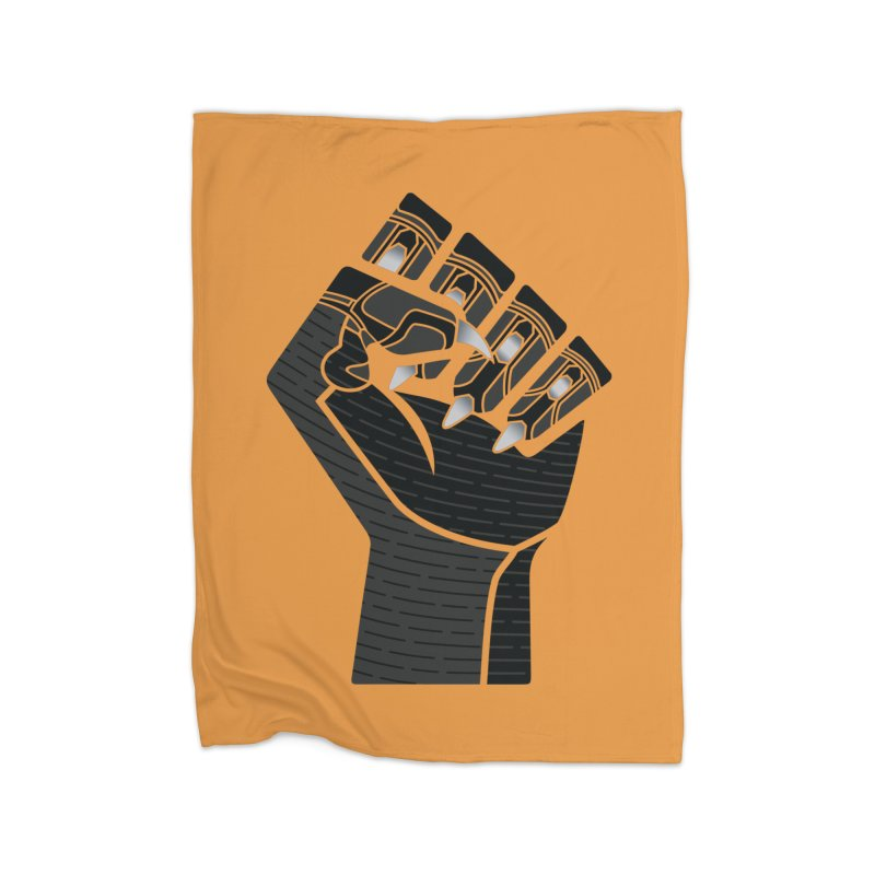 Panther Fist Home Fleece Blanket Blanket by Evan Ayres Design