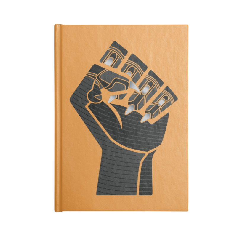 Panther Fist Accessories Blank Journal Notebook by Evan Ayres Design