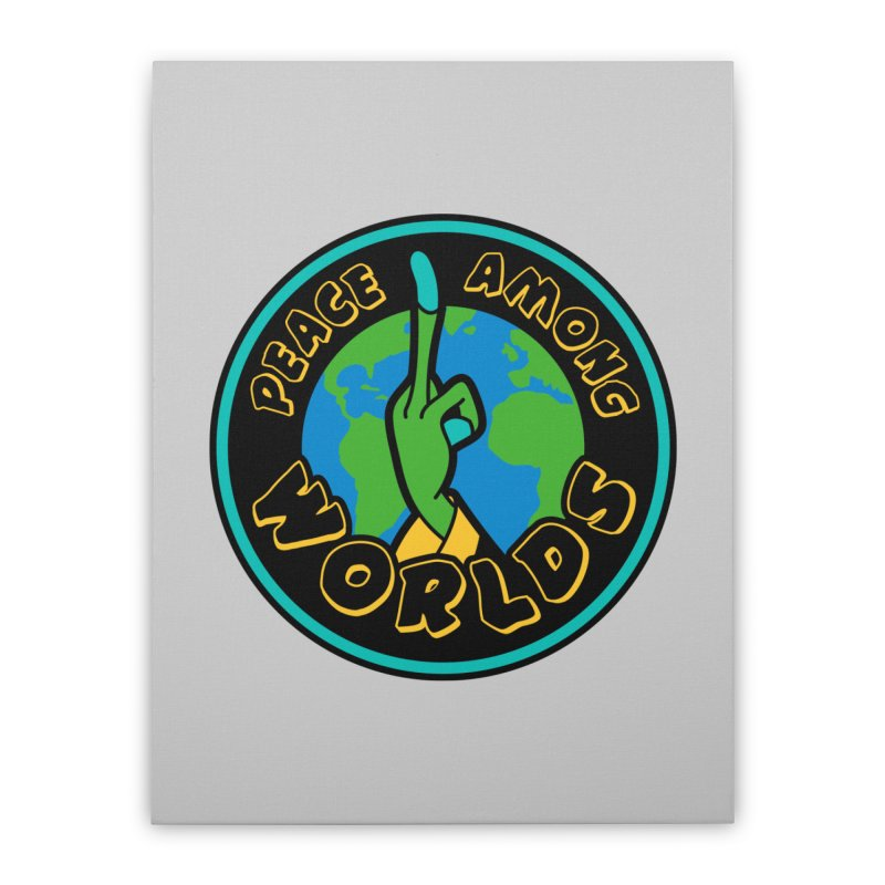 Peace Among Worlds Home Stretched Canvas by Evan Ayres Design